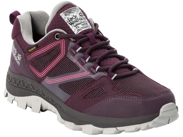 Jack Wolfskin Downhill Texapore Low Shoes Women burgundy/pink